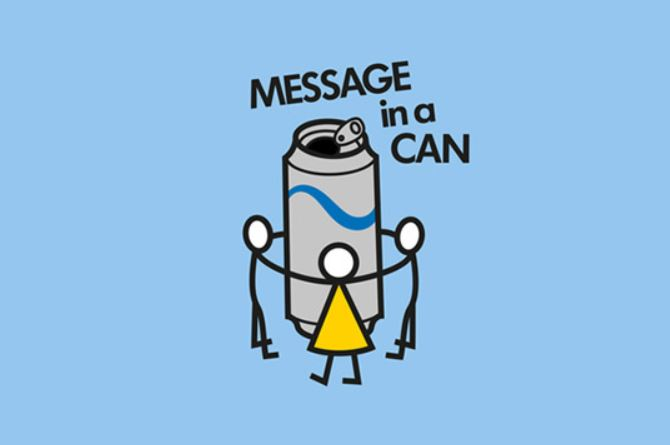 CIAL MESSAGE IN A CAN