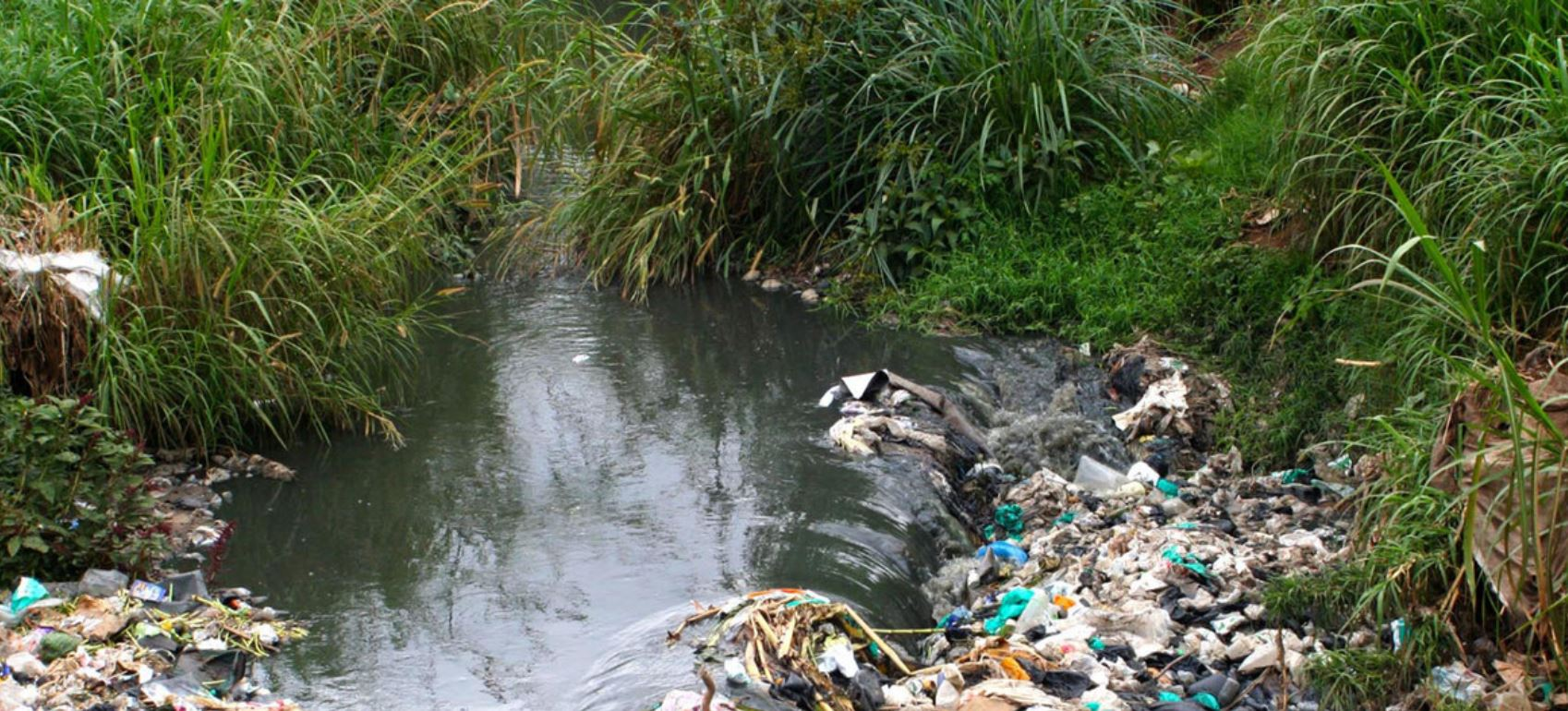 Courtesy of James Waikibia Huge amounts of waste including plastics are thrown from in the Kenyan capital of Nairobi into the Nairobi river.