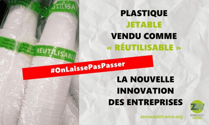 Francia vendono plastica monouso come riutilizzabile