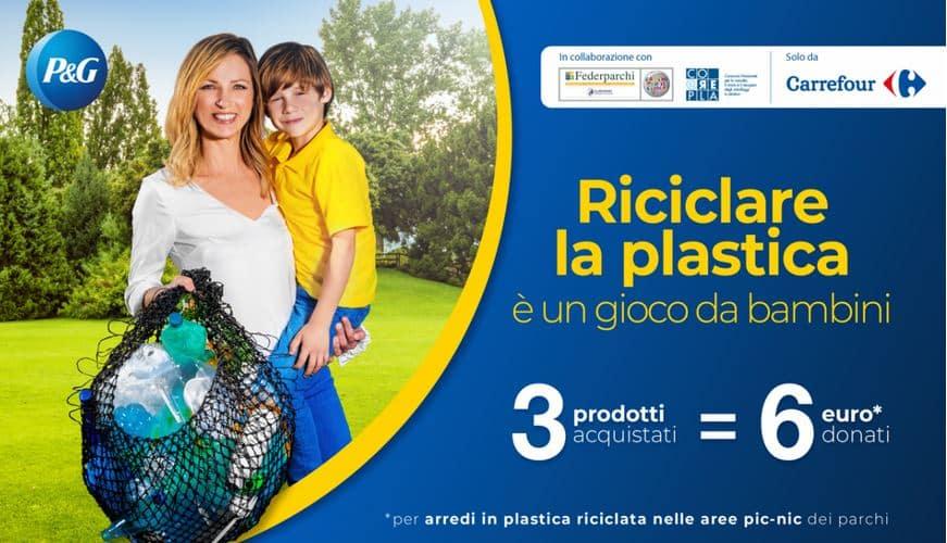 Riciclare la plastica è un gioco da bambini Corepla e Federparchi