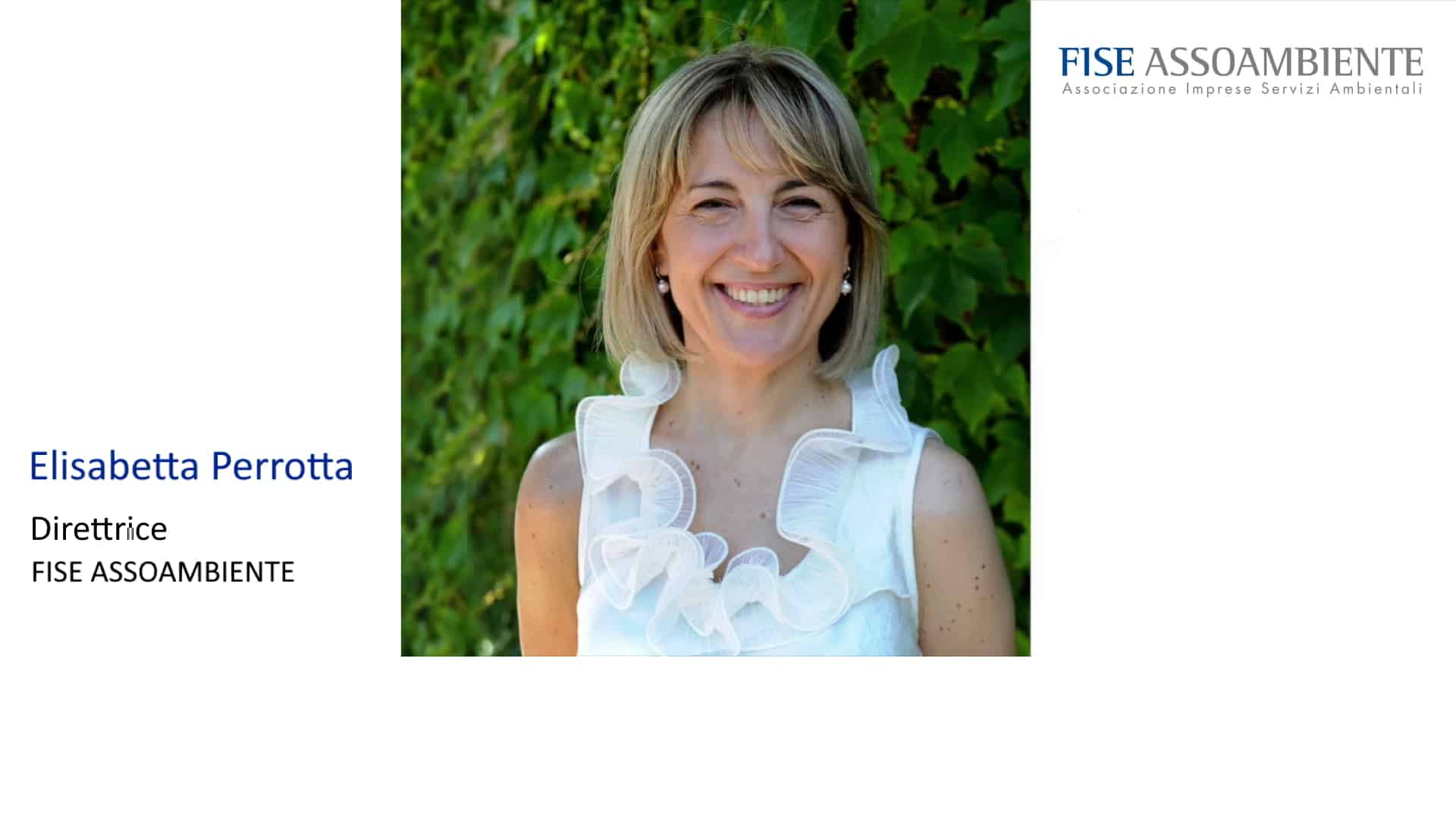 Elisabetta Perrotta: Direttrice FISE ASSOAMBIENTE