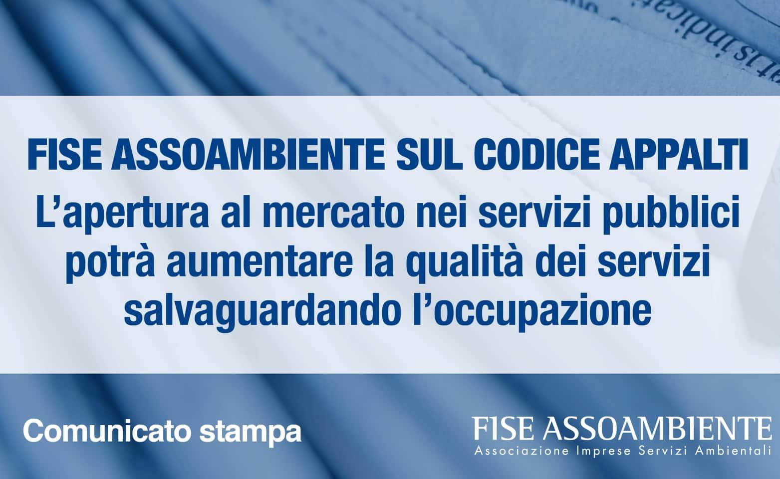 FISE Assoambiente - Codice Appalti